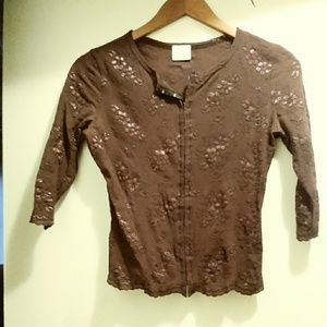 Tops - Maroon sequin top
